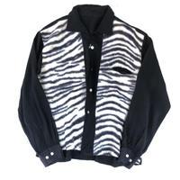 """50-60's """"zebra pattern Shirt""""   (spice) #A1"""