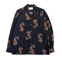 WACKO MARIA  HAWAIIAN SHIRT L/S ( TYPE-2 ) (black)