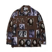 BOB MARLEY x WACKO MARIA / HAWAIIAN SHIRT (brown)