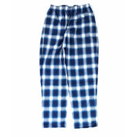 THREE FACE / indigo plaid EASY PANTS (indigo A)