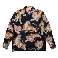 WACKO MARIA  x TIM LEHI / L/S Hawaiian Shirt (TYPE-1) (black)