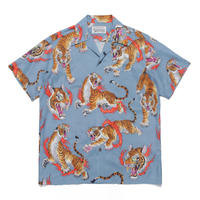 "WACKO MARIA × TIM LEHI ""S/S Hawaiian shirt "" (type-2)  (blue)"