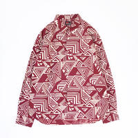 MASSES /  GEOMETRIC SHIRT L (burgundy)