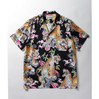 WACKO MARIA x TIM LEHI / S/S HAWAIIAN SHIRT (type-2,black)