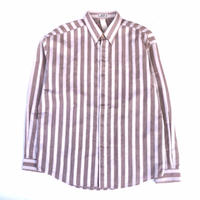 "90's GIANNI VERSACE "" B.D. stripe  L/S  shirt"" (Hi brand hurugi)"