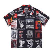 "WACKO MARIA × RAGE AGAINST THE MACHIN ""S/S Hawaiian shirt (black)"