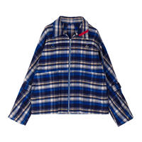 PHINGERIN / ZIP RUN JACKET FRANNEL (blue check)