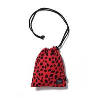 WACKO MARIA×PORTER   /  Leopard nylon Shoulder Pouch (TYPE-1)(red)