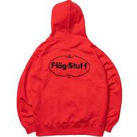 "F-LAGSTUF-F ""ICE LOGO"" HOODIE (red)"
