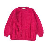 "90's L.L.Bean ""C/N Wool Knit Sweater"" ポケット付き (spice)"
