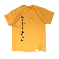 FORTY PERCENT AGAINST RIGHTS / MY LIFE SS TEE 07(yellow)