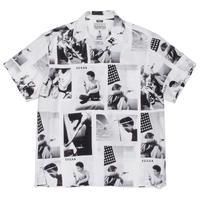 """WACKO MARIA /  Larry Clark / Site-lo """" TULSA  Hawaiian shirt  (white)"""