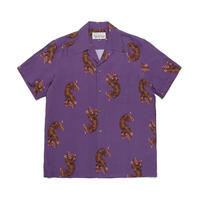 WACKO MARIA  HAWAIIAN SHIRT S/S ( TYPE-2 ) (purple)