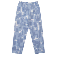 PHINGERIN / NIGHT PANTS GAUZE OVERLAYED SQUARES