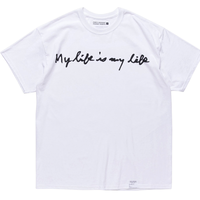 """FORTY PERCENT AGAINST RIGHTS """" My Life SS TEE  """" (white)"""