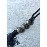 Tuareg Beads Sabra Silk Necklace  (spice)