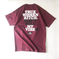 "FRT  ""ANSWER /SS Tee "" (burgundy)"