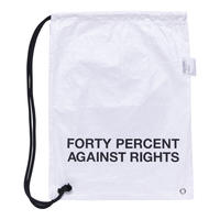"""FORTY PERCENT AGAINST RIGHTS  """"Banner Drawstring Bag"""" (white)"""
