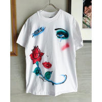 "80's ""Airbrush face Tee""   (spice)"