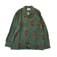 WACKO MARIA  HAWAIIAN SHIRT L/S ( TYPE-2 ) (green)