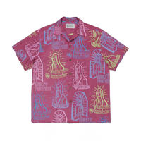 "WACKO MARIA /  ""Hawaiian shirt S/S  (type-2)  (D.red)"