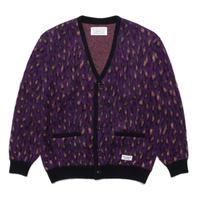 WACKO MARIA / Leopard mohair cardigan (purple)