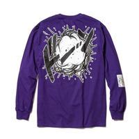 """F-LAGSTUF-F  x DRAGON BALL / """"Super saiyans"""" L/S Tee (purple)"""