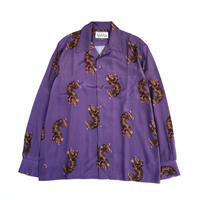 WACKO MARIA  HAWAIIAN SHIRT L/S ( TYPE-2 ) (purple)