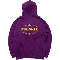 "F-LAGSTUF-F ""ICE LOGO"" ZIP HOODIE (purple)"