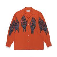 WACKO MARIA /  HAWAIIAN SHIRT L/S ( TYPE-5 )  (orange)