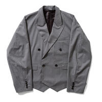 F-LAGSTUF-F /Double breasted JKT (gray stripe)