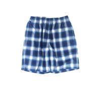 THREE FACE / indigo plaid EASY SHORTS(indigo A)