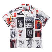 "WACKO MARIA × RAGE AGAINST THE MACHIN ""S/S Hawaiian shirt (white)"