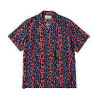 "WACKO MARIA /  ""LEOPARD"" S/S HAWAIIAN SHIRT (type-1,blue-red)"