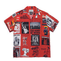 "WACKO MARIA × RAGE AGAINST THE MACHIN ""S/S Hawaiian shirt (red)"