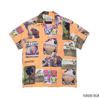 "WACKO MARIA × SUB LIME "" Hawaiian shirt (type-1) (orange)"