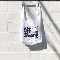 "offshore coffee  "" Rip Shoulder Marche Bag ""  (white)"