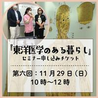 超初心者向け!「東洋医学のある暮らし」セミナー第六回(2020年11月29日)