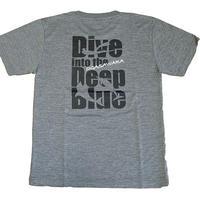 Tシャツ Into the Blue (ヘザーチャコール)