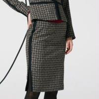 ツイードプリント スカート  193-13024