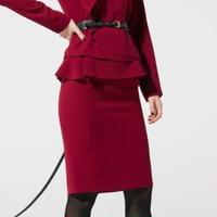 ダブルクロスドレープ スカート  193-13030
