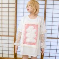 大入袋ロングスリーブTシャツ〈pink〉