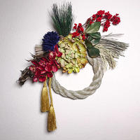 水引とアートフラワーのお正月飾り(大)♪ 花言葉は「君を愛す」