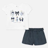 Mayoral(マヨラル)Tシャツとドットショートパンツのセット/ネイビー