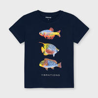 Mayoral(マヨラル)キッズ お魚Tシャツ/ネイビー