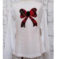 【SALE】Malvi&Co.(マルヴィー) リボンアップリケTシャツ/ホワイト