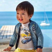 Mayoral(マヨラル)ベビー クラシックカーTシャツ/ホワイト