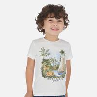 Mayoral(マヨラル)キッズ ジャングルプリントTシャツ/ホワイト
