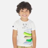 Mayoral(マヨラル)キッズ サーフボートプリントTシャツ/ホワイト