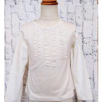 【新作SALE】Malvi&Co.(マルヴィー) フリルTシャツ/オフホワイト